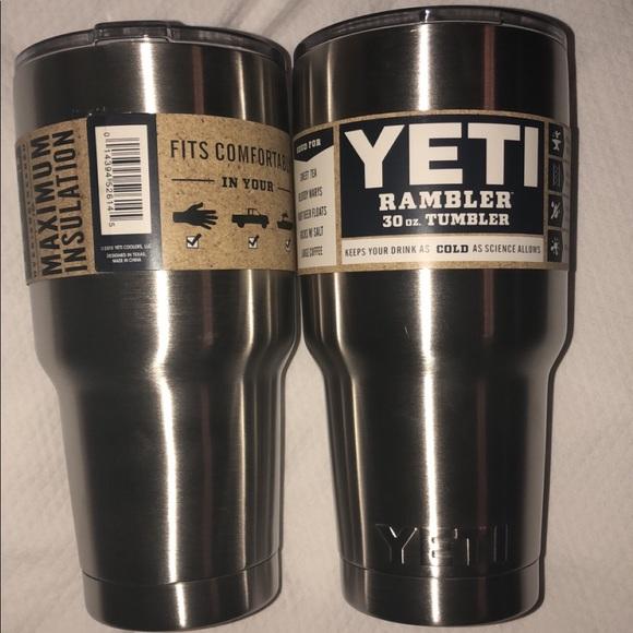 6aa67231c48 Yeti Other | Two 30oz Genuine Cup Silver Rambler | Poshmark